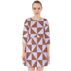 Triangle1 White Marble & Rusted Metal Smock Dress by trendistuff