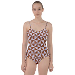 Triangle1 White Marble & Rusted Metal Sweetheart Tankini Set by trendistuff