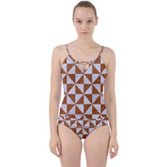 Triangle1 White Marble & Rusted Metal Cut Out Top Tankini Set by trendistuff