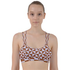 Triangle1 White Marble & Rusted Metal Line Them Up Sports Bra by trendistuff