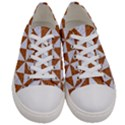 TRIANGLE1 WHITE MARBLE & RUSTED METAL Women s Low Top Canvas Sneakers View1