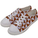 TRIANGLE1 WHITE MARBLE & RUSTED METAL Women s Low Top Canvas Sneakers View2