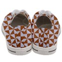 TRIANGLE1 WHITE MARBLE & RUSTED METAL Women s Low Top Canvas Sneakers View4