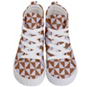 TRIANGLE1 WHITE MARBLE & RUSTED METAL Kid s Hi-Top Skate Sneakers View1