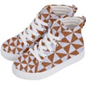 TRIANGLE1 WHITE MARBLE & RUSTED METAL Kid s Hi-Top Skate Sneakers View2