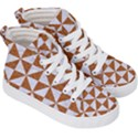 TRIANGLE1 WHITE MARBLE & RUSTED METAL Kid s Hi-Top Skate Sneakers View3