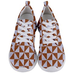 Triangle1 White Marble & Rusted Metal Men s Lightweight Sports Shoes