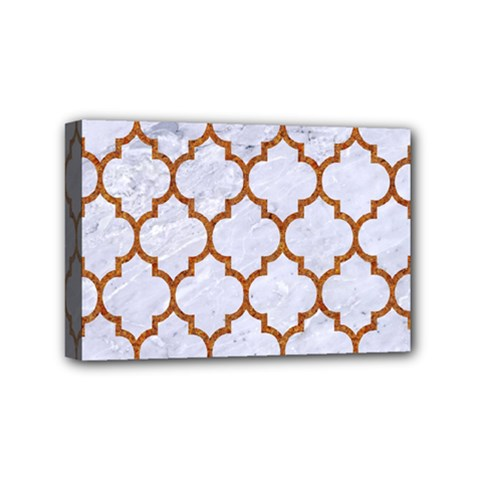 TILE1 WHITE MARBLE & RUSTED METAL (R) Mini Canvas 6  x 4
