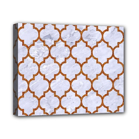 TILE1 WHITE MARBLE & RUSTED METAL (R) Canvas 10  x 8