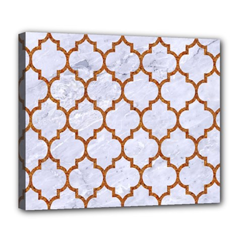 TILE1 WHITE MARBLE & RUSTED METAL (R) Deluxe Canvas 24  x 20