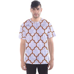 TILE1 WHITE MARBLE & RUSTED METAL (R) Men s Sports Mesh Tee