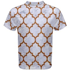 TILE1 WHITE MARBLE & RUSTED METAL (R) Men s Cotton Tee