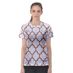 TILE1 WHITE MARBLE & RUSTED METAL (R) Women s Sport Mesh Tee