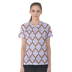 TILE1 WHITE MARBLE & RUSTED METAL (R) Women s Cotton Tee