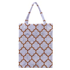 TILE1 WHITE MARBLE & RUSTED METAL (R) Classic Tote Bag