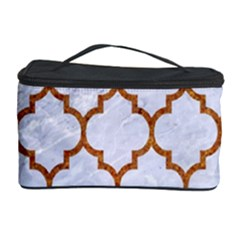 TILE1 WHITE MARBLE & RUSTED METAL (R) Cosmetic Storage Case