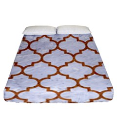 Tile1 White Marble & Rusted Metal (r) Fitted Sheet (king Size) by trendistuff