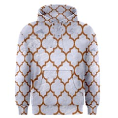 TILE1 WHITE MARBLE & RUSTED METAL (R) Men s Pullover Hoodie