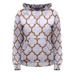 TILE1 WHITE MARBLE & RUSTED METAL (R) Women s Pullover Hoodie