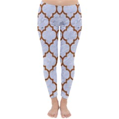 TILE1 WHITE MARBLE & RUSTED METAL (R) Classic Winter Leggings