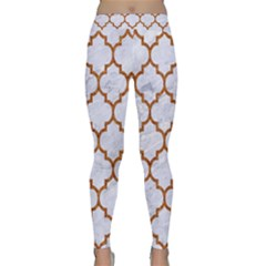 TILE1 WHITE MARBLE & RUSTED METAL (R) Classic Yoga Leggings