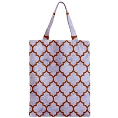 TILE1 WHITE MARBLE & RUSTED METAL (R) Zipper Classic Tote Bag