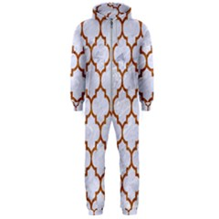TILE1 WHITE MARBLE & RUSTED METAL (R) Hooded Jumpsuit (Men)