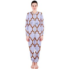 TILE1 WHITE MARBLE & RUSTED METAL (R) OnePiece Jumpsuit (Ladies)