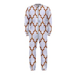 TILE1 WHITE MARBLE & RUSTED METAL (R) OnePiece Jumpsuit (Kids)