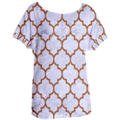 TILE1 WHITE MARBLE & RUSTED METAL (R) Women s Oversized Tee