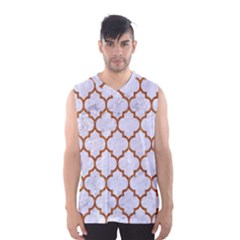 TILE1 WHITE MARBLE & RUSTED METAL (R) Men s Basketball Tank Top