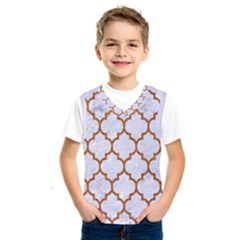 TILE1 WHITE MARBLE & RUSTED METAL (R) Kids  SportsWear