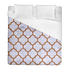 TILE1 WHITE MARBLE & RUSTED METAL (R) Duvet Cover (Full/ Double Size)