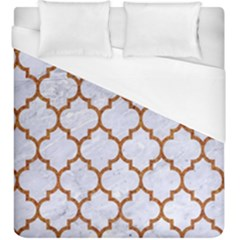 TILE1 WHITE MARBLE & RUSTED METAL (R) Duvet Cover (King Size)