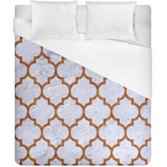 TILE1 WHITE MARBLE & RUSTED METAL (R) Duvet Cover (California King Size)