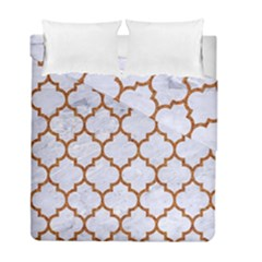 TILE1 WHITE MARBLE & RUSTED METAL (R) Duvet Cover Double Side (Full/ Double Size)