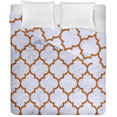 TILE1 WHITE MARBLE & RUSTED METAL (R) Duvet Cover Double Side (California King Size)