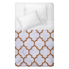 TILE1 WHITE MARBLE & RUSTED METAL (R) Duvet Cover (Single Size)