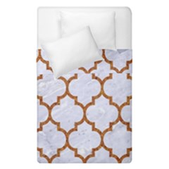TILE1 WHITE MARBLE & RUSTED METAL (R) Duvet Cover Double Side (Single Size)
