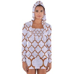 TILE1 WHITE MARBLE & RUSTED METAL (R) Long Sleeve Hooded T-shirt