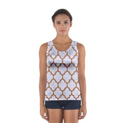 TILE1 WHITE MARBLE & RUSTED METAL (R) Sport Tank Top