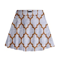 TILE1 WHITE MARBLE & RUSTED METAL (R) Mini Flare Skirt