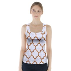 Tile1 White Marble & Rusted Metal (r) Racer Back Sports Top by trendistuff