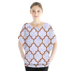 TILE1 WHITE MARBLE & RUSTED METAL (R) Blouse