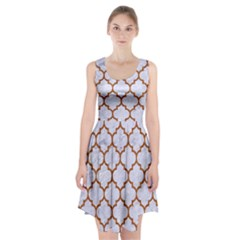 TILE1 WHITE MARBLE & RUSTED METAL (R) Racerback Midi Dress