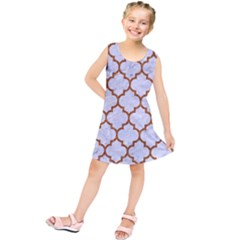 TILE1 WHITE MARBLE & RUSTED METAL (R) Kids  Tunic Dress