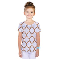 TILE1 WHITE MARBLE & RUSTED METAL (R) Kids  One Piece Tee