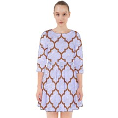 TILE1 WHITE MARBLE & RUSTED METAL (R) Smock Dress