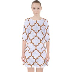 TILE1 WHITE MARBLE & RUSTED METAL (R) Pocket Dress
