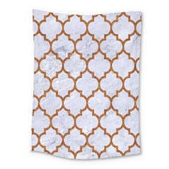 TILE1 WHITE MARBLE & RUSTED METAL (R) Medium Tapestry